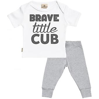 Spoilt Rotten Brave Little Cub Baby T-Shirt & Baby Jersey Trousers Outfit Set