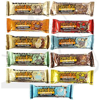 Grenade Box of 12 x 60g White Chocolate Cookie Carb Killa