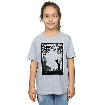 Disney Girls The Jungle Book Silhouette Poster T-Shirt