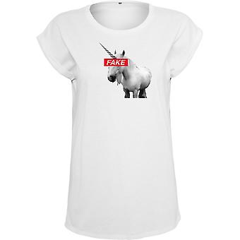 Mister tee ladies white top - FAKE UNICORN