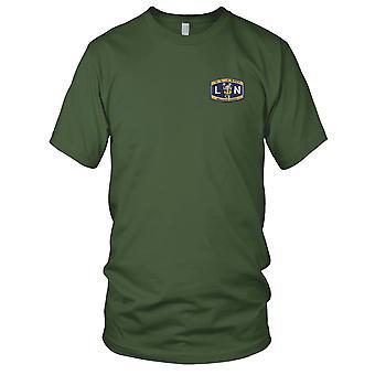 Legalman chefe do mestre da Marinha dos EUA LNCM bordada Patch - Mens T-Shirt