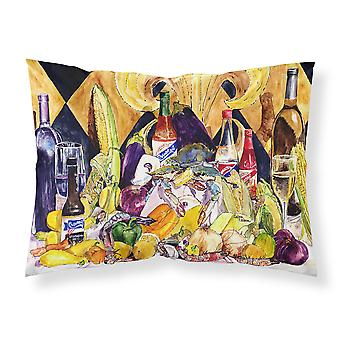 Crystal Hot Sauce with Fleur De lis and Wine Fabric Standard Pillowcase