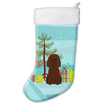 Merry Christmas Tree Irish Water Spaniel Weihnachts-Strumpf