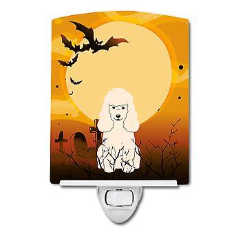 Carolines Treasures  BB4336CNL Halloween Poodle White Ceramic Night Light