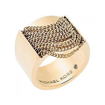 MICHAEL KORS CHAINS GOLD RING