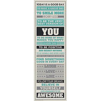Laugh More Be Awesome - Motivational Poster Poster Print