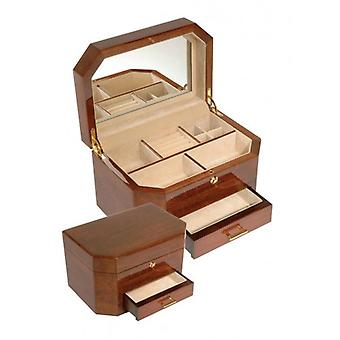 Woodford Large Drawer Jewellery Box - Brown/Cream
