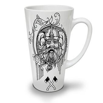 Viking gezicht Warrior nieuwe witte thee koffie keramische Latte Mok 17 oz | Wellcoda