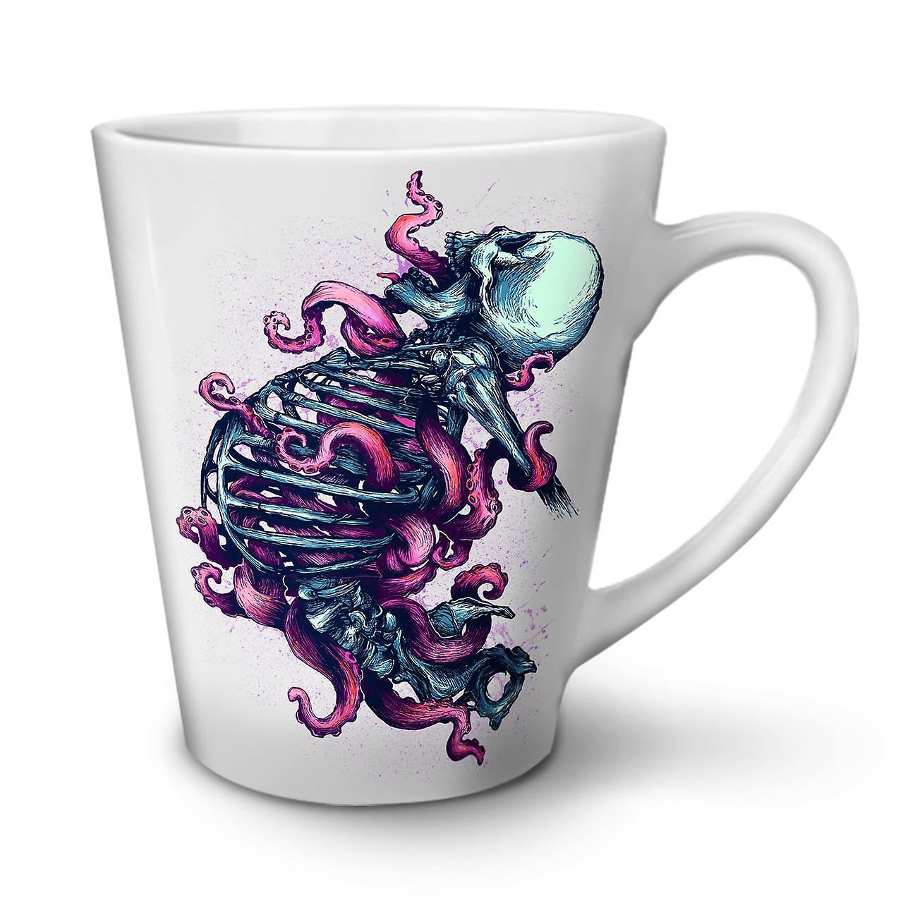 Latte Mort OzWellcoda Céramique Skull Nouvelle Tasse Café Squelette Art 12 Blanche En 0wkP8nO