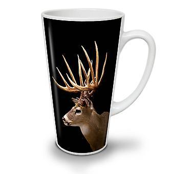 Hirsch Gesicht wildes Tier neue weißer Tee Kaffee Keramik Latte Becher 17 oz   Wellcoda