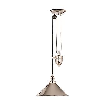 Provence Pendent Nickel poliert