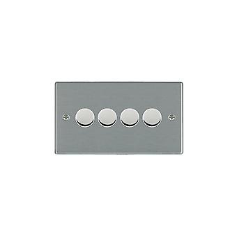 Hamilton Litestat Hartland Satin Stainless 4g 400W 2 Way Dimmer SS