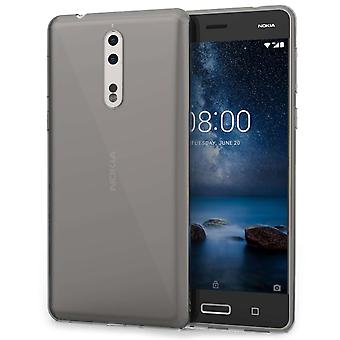 Nokia 8 TPU Gel Case - Smoke Black