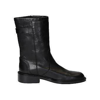 Barbara Bui women's H5650VS1010 black leather ankle boots