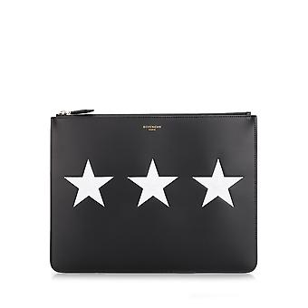Givenchy men's BK06072266001 black leather clutch