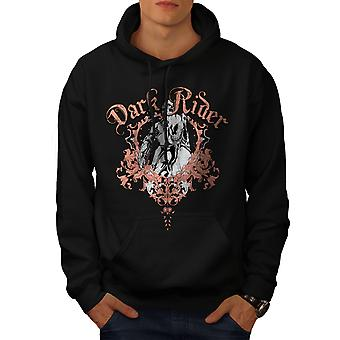 Dark Rider Metal Biker Men BlackHoodie | Wellcoda