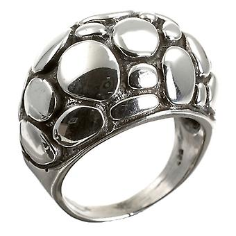 Pebbled Silver Ring