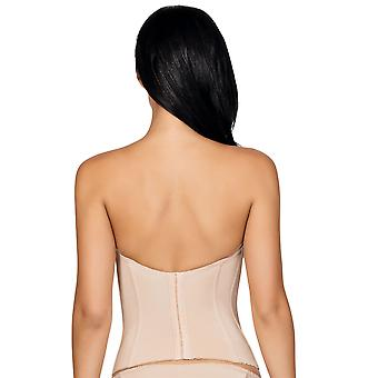 Parfait P5017 Women's Elissa European Nude Underwired Corsetted Top Low-Back Bustier