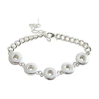 Silver Plated Bracelet For Mini Click Buttons Kb0421-s