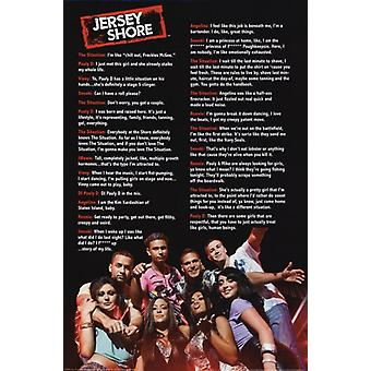 Jersey Shore - Quotes Poster Poster Print