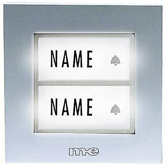 Bell button backlit, with nameplate 2x m-e modern-electronics KT