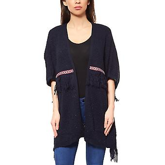 Fringed poncho blue B.C.. best connections by heine