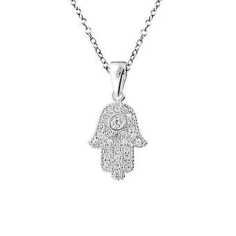 Hamsa - 925 Sterling Silver Jewelled Necklaces
