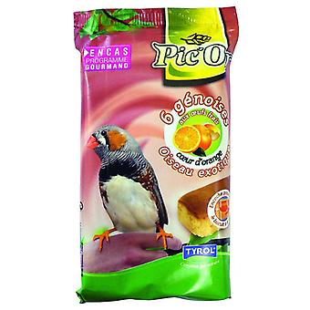 Tyrol 6 Sponge Cakes In Eggs And At The Heart Of Orange Exotic (Birds , Bird Food)