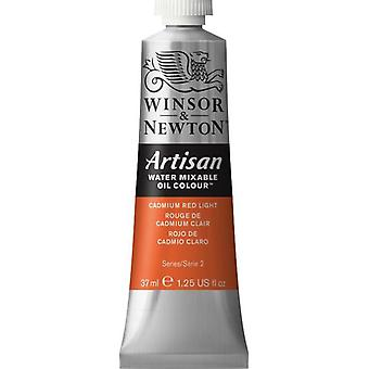 Winsor & Newton Artisan vatten blandbart olja färg 37ml (100 kadmium rött ljus S2)