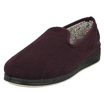 Ladies Padders Slip On Slipper Shoes Repose 18 - Purple Textile - UK Size 9 2E - EU Size 43 - US Size 11