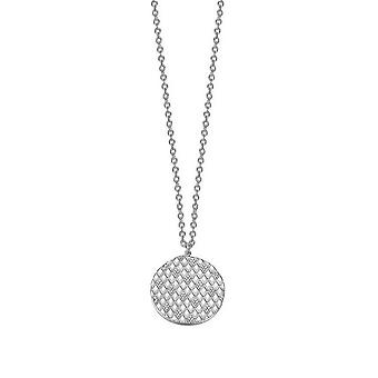 ESPRIT women's chain necklace silver cubic zirconia lattice ESNL92239A800