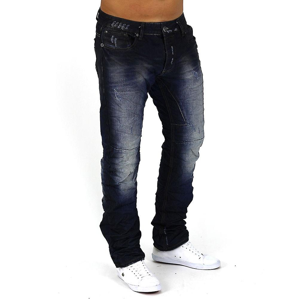 Men's Jeans Vintage denim clubwear narrow Slim Fit Nightcore