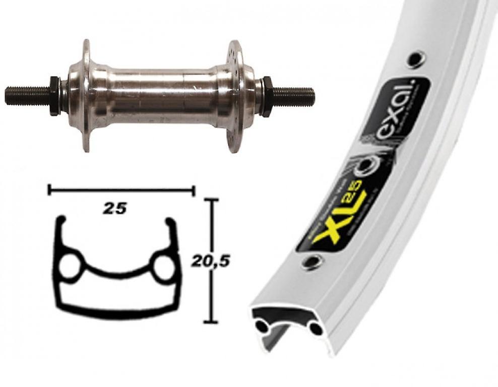 Roue de 26″ pièces vélo Exal XL 25 + moyeu aluminium standard (rigide)