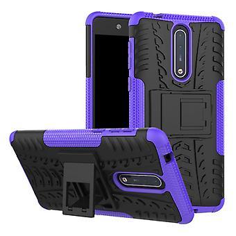 Hybrid sag 2 stykke SWL udendørs lilla for Nokia 8 tilbehør pose tilfælde dække beskyttelse