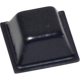 TOOLCRAFT PD2126SW Foot self-adhesive, square Black (L x W x H) 12.7 x 12.7 x 5.8 mm 1 pc(s)