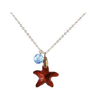 Gemshine collar colgante estrella azul HECHO CON ELEMENTOS SWAROVSKI®