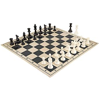 Tournoi scolaire pliage Chess Set Black
