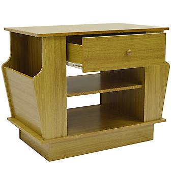 Companion - Storage Side / End Table With Magazine Rack - Oak