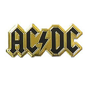 Ac/Dc Logo Small Black Gold Metallic Sticker 60Mm X 25Mm