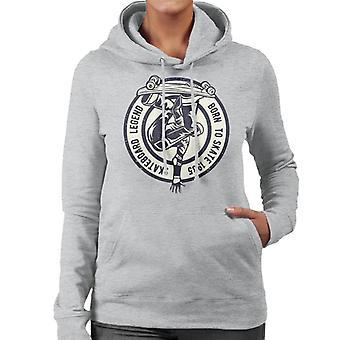 Skateboard Legend Born To Skate Women's Hooded Sweatshirt