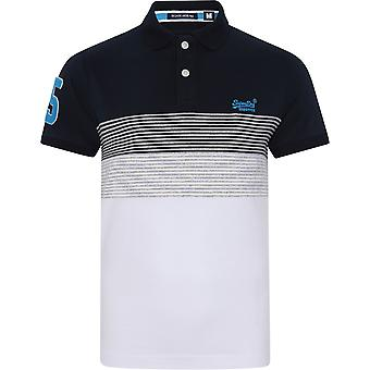 Superdry Classic Lakeside Jersey Polo Shirt Blue