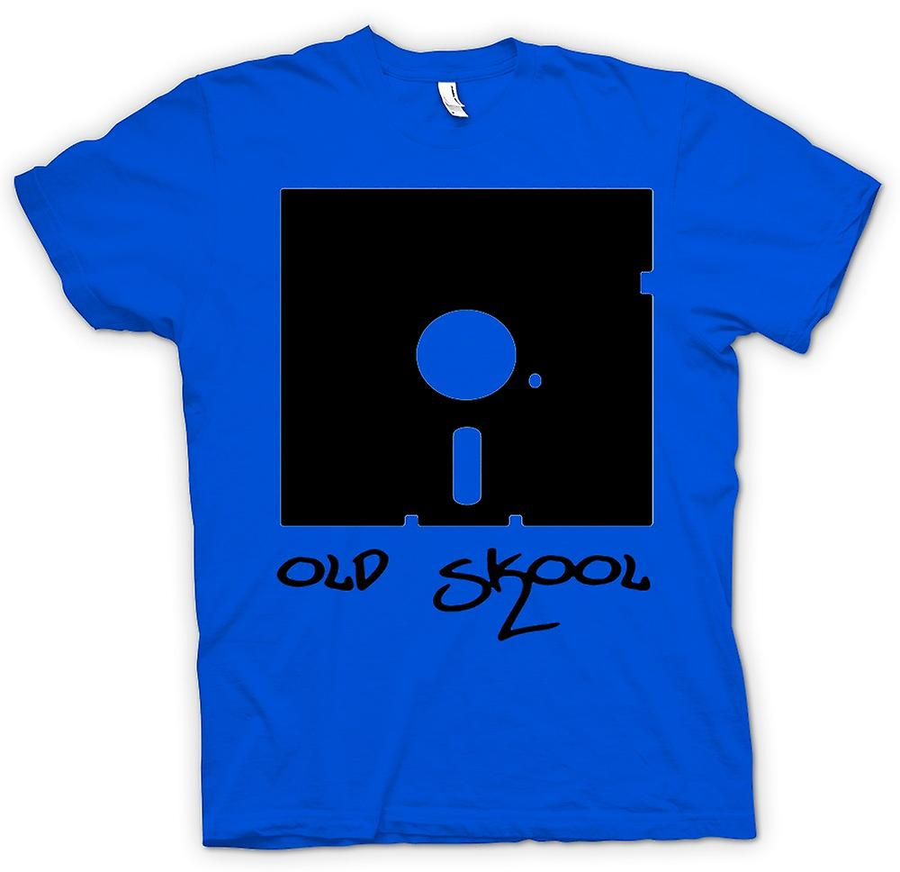 Mens t-shirt - Old Skool Floppy Disc - divertente