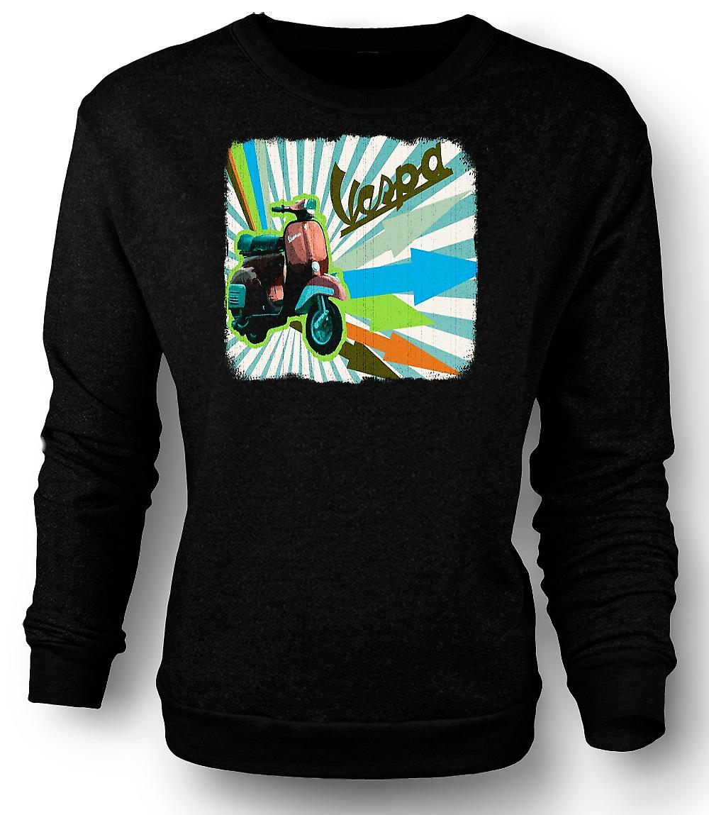 Heren Sweatshirt Vespa Scooter - pijlen