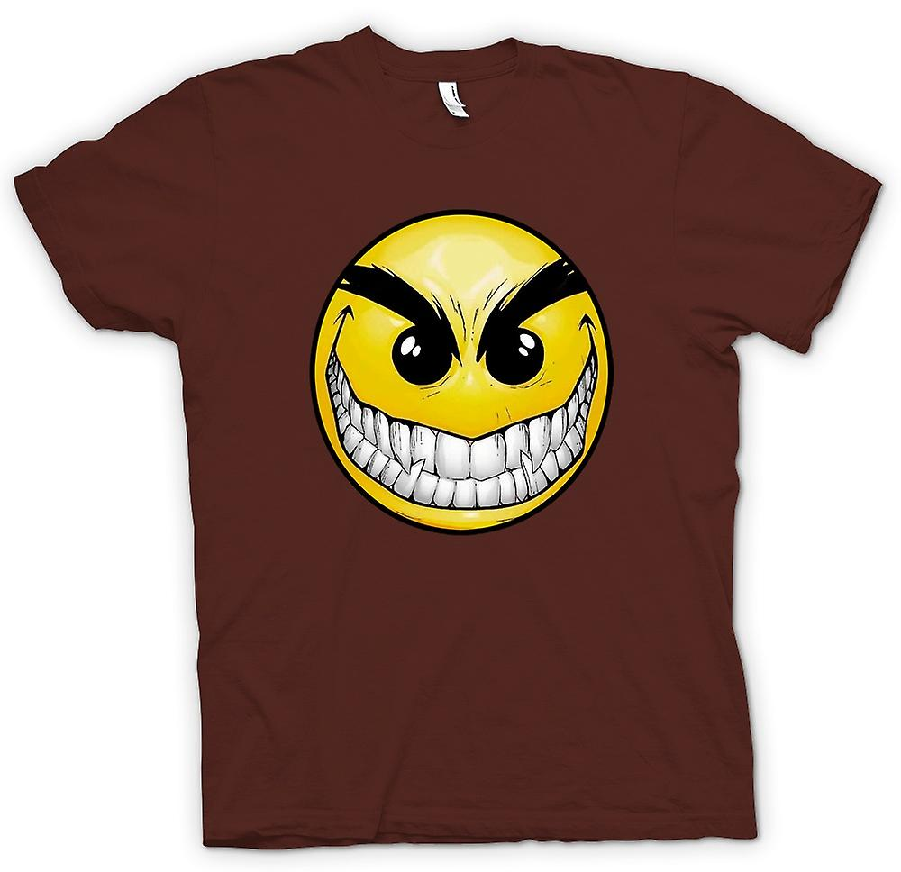 Herr T-shirt-Smiley Face - tänder - Acid House