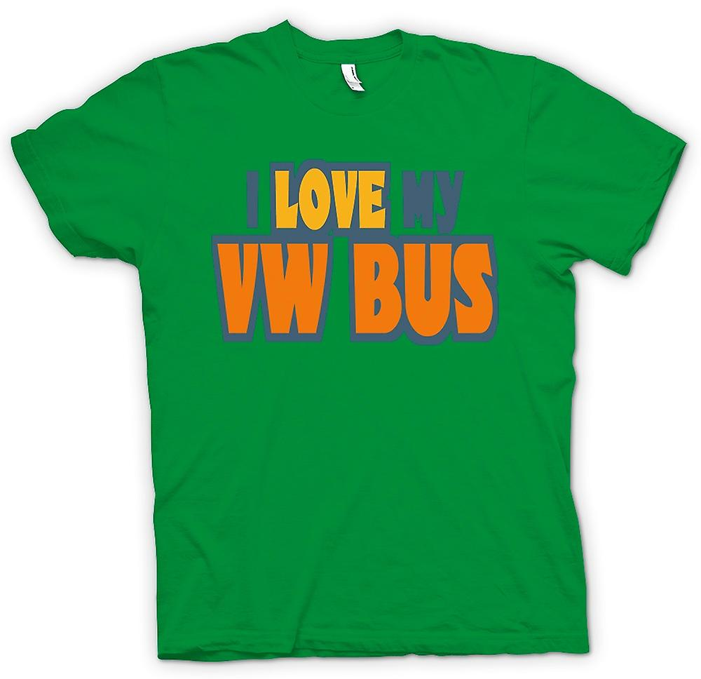 Mens T-shirt - I Love My VW Bus - Car Enthusiast