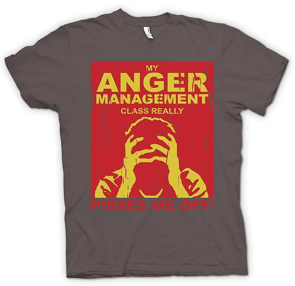 Mens T-shirt - My Anger Management Class Really Pisses Me Off