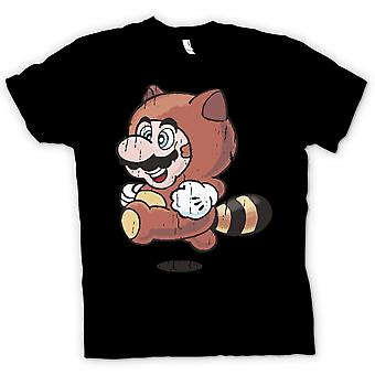 Kids T Shirt Raccoon Mario - Super Mario inspireret