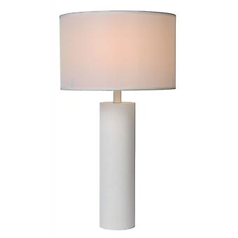 Lucide Yessin Modern  Metal White Table Lamp