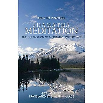 How to Practice Shamantha Meditation: The Cultivation of Meditative Quiescence