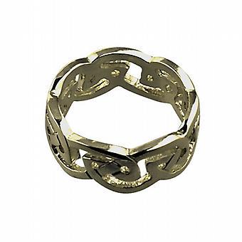 9ct goud 8mm Keltische trouwring maat L